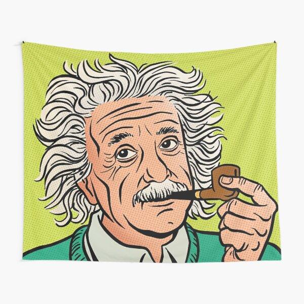 Einstein Comic Portrait Tapestry