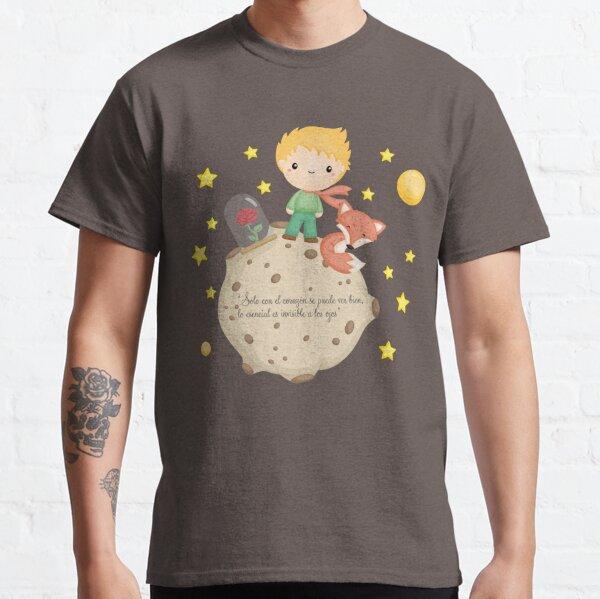 """El Principito - Solo con el corazón se puede ver bien, lo esencial es invisible a los ojos"""" Camiseta clásica"""