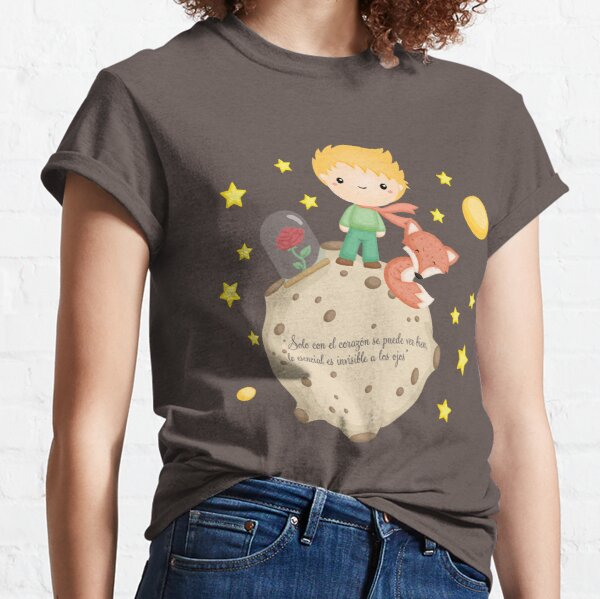 """Le Petit Prince - Ce n'est qu'avec le cœur que l'on voit bien, l'essentiel est invisible aux yeux """" T-shirt classique"""