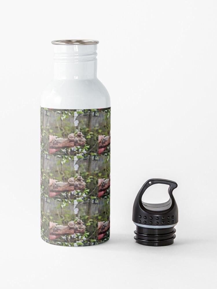 Alternate view of The garden snail (Helix aspersa)  By Yannis Lobaina  Water Bottle
