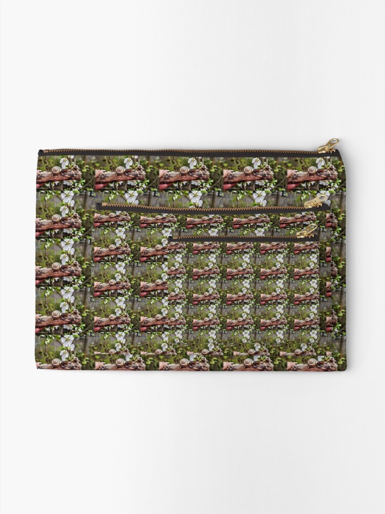 Alternate view of The garden snail (Helix aspersa)  By Yannis Lobaina  Zipper Pouch