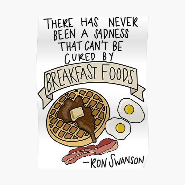 Breakfast Foods Poster
