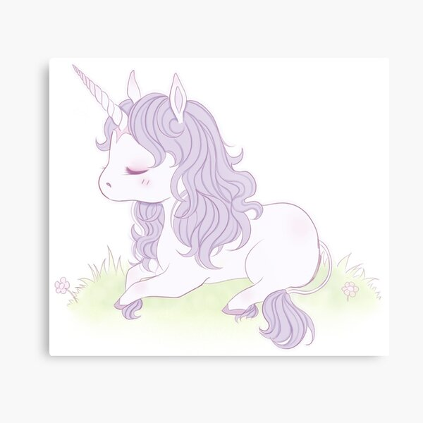 Lovely Little Unicorn  Metal Print