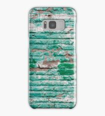 Green brick wall painted in the past Samsung Galaxy Case/Skin