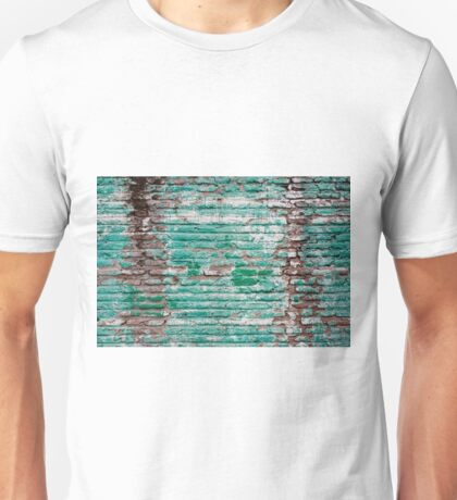 Green brick wall painted in the past Unisex T-Shirt