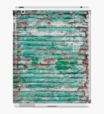 Green brick wall painted in the past iPad Case/Skin