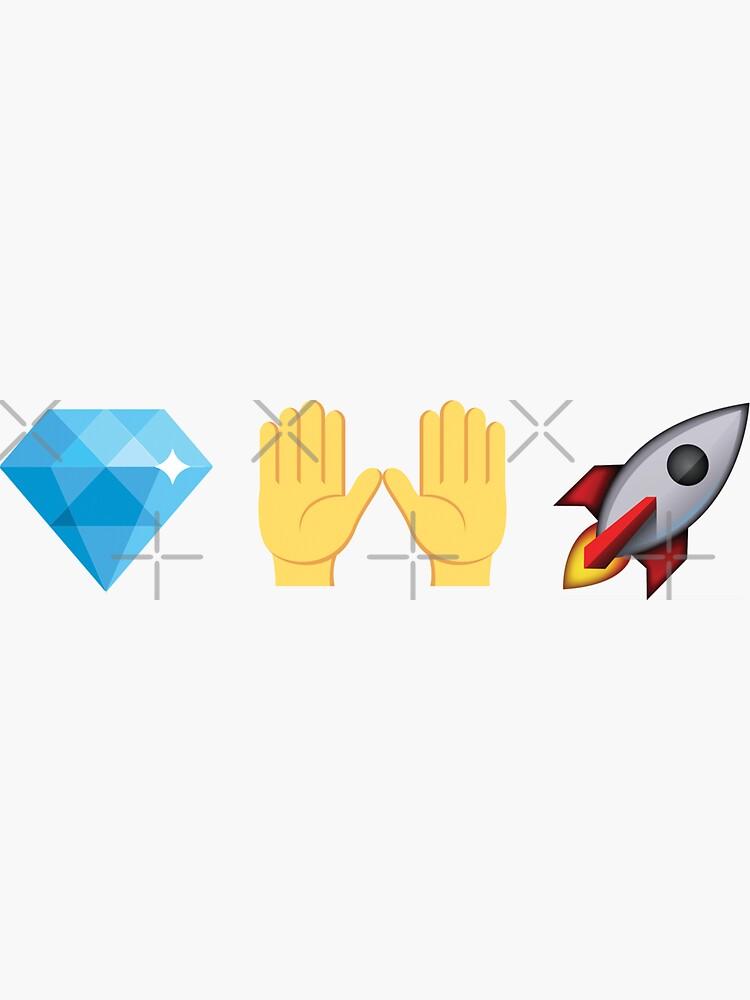 Diamond Hands Rocket Emoji Stocks Crypto by Aetha
