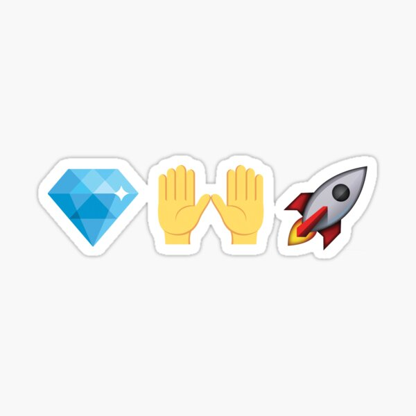 Diamond Hands Rocket Emoji Stocks Crypto Sticker