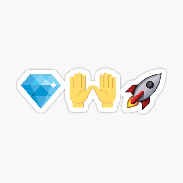 Mains de diamant Rocket Emoji Stocks Crypto Sticker