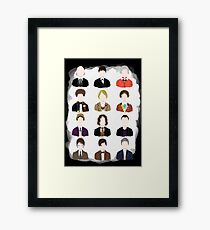 Twelve Doctors. Framed Print