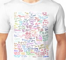 Taylor Swift Song Names Unisex T-Shirt