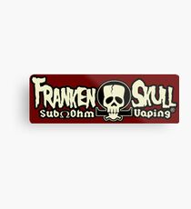 FrankenSkull Ohm Logo Metal Print