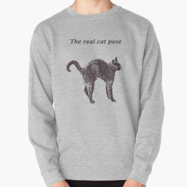 The real cat pose Pullover Sweatshirt