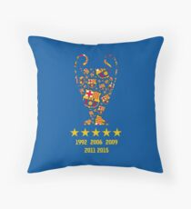 FC Barcelona - Champion League Winners Throw Pillow