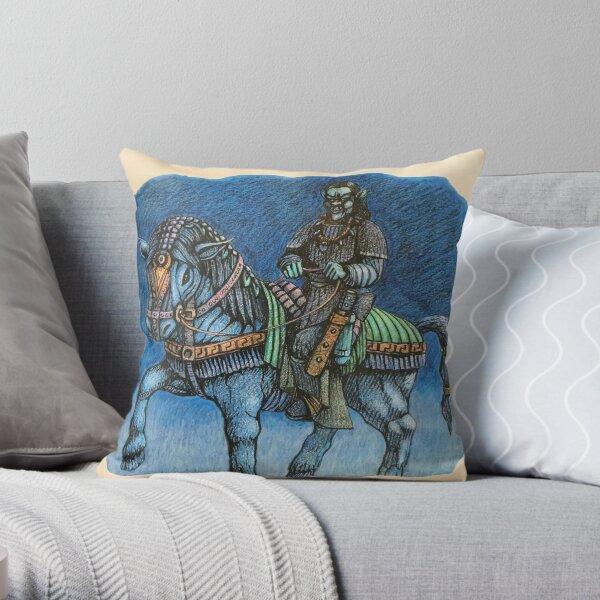 Ghoul on horseback  Throw Pillow
