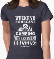 Weekend Forecast: Camping With A Chance Of Drinking T-Shirt