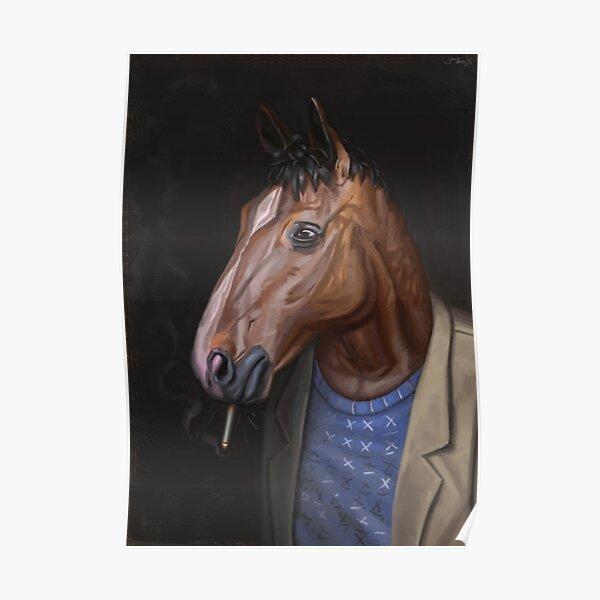Somber Horse Poster