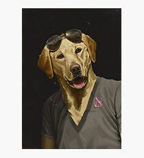 Thrilled Dog Photographic Print
