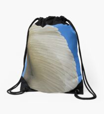 Great Egret Wing Drawstring Bag
