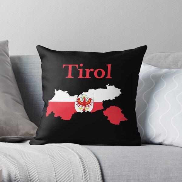 Tyrol State Map Design, Austria Throw Pillow
