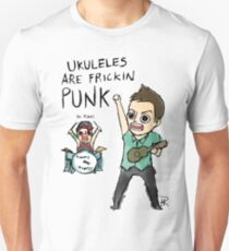 UKULELES ARE FRICKIN PUNK (OFFICIAL) Slim Fit T-Shirt
