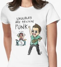 UKULELES ARE FRICKIN PUNK (OFFICIAL) Women's Fitted T-Shirt