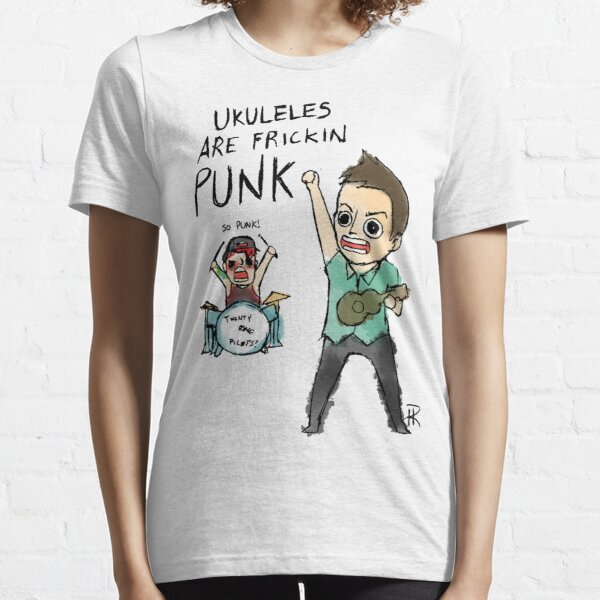 UKULELES ARE FRICKIN PUNK (OFFICIAL) Essential T-Shirt