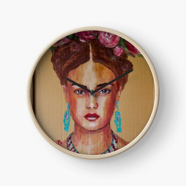 Young Frida Clock