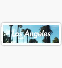 los angeles palm trees Sticker