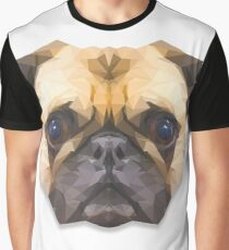 Low poly pug dog Graphic T-Shirt