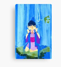 The glamorous life of a spirit medium a la Maya Fey.  Canvas Print