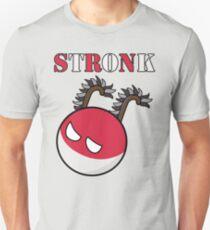 Polandball - Poland Stronk with Hussar Wings Unisex T-Shirt