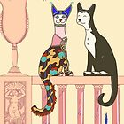 Desmond and Muriel, Art Deco Cat by sneercampaign