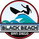 Surfing Black's Beach San Diego California Surf Surfboard Waves by MyHandmadeSigns