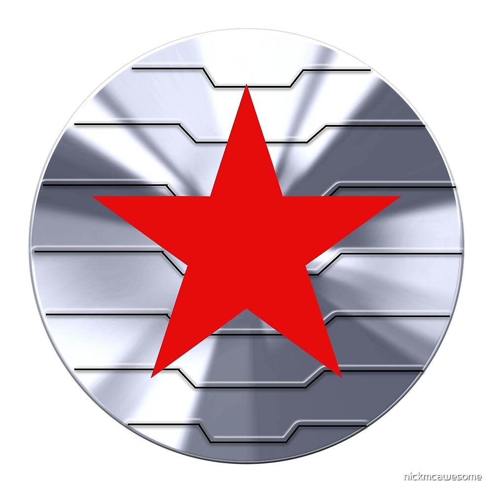 Winter Soldier Shield Chrome By Nickmcawesome Redbubble