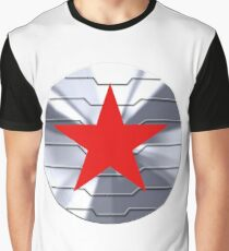 Winter Soldier Shield - Chrome  Graphic T-Shirt