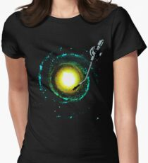 music from the milky way Women's Fitted T-Shirt