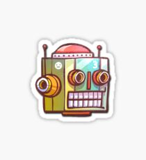 Retro Robot Sticker Sticker