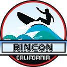 Surfing Rincon Beach California Surf Surfboard Waves by MyHandmadeSigns