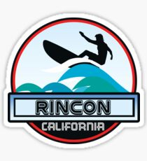 Surfing Rincon Beach California Surf Surfboard Waves Sticker