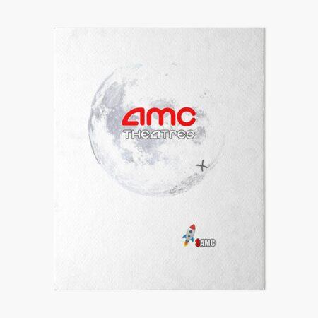 AMC Theatres Moon Landing Art Board Print
