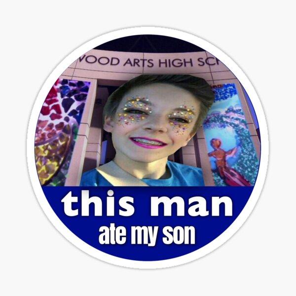 Weston Koury This Man Ate My Son #1 Sticker