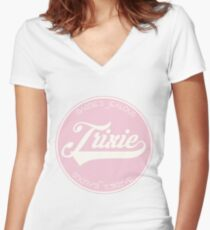 TRIXIE MATTEL Fitted V-Neck T-Shirt
