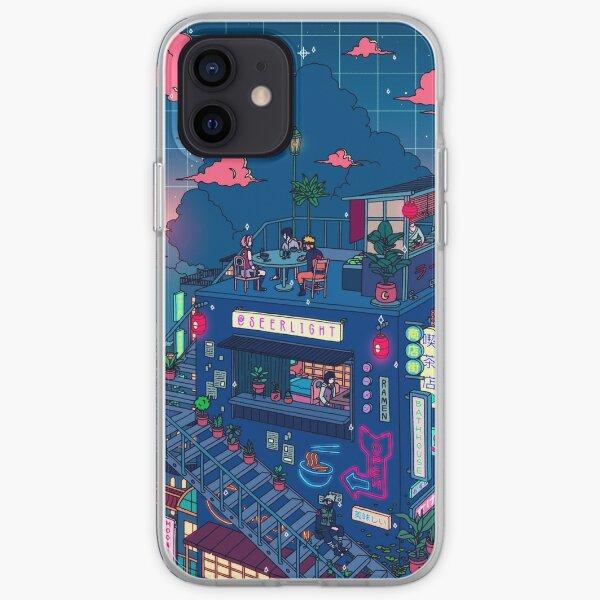 Neon Village iPhone Soft Case