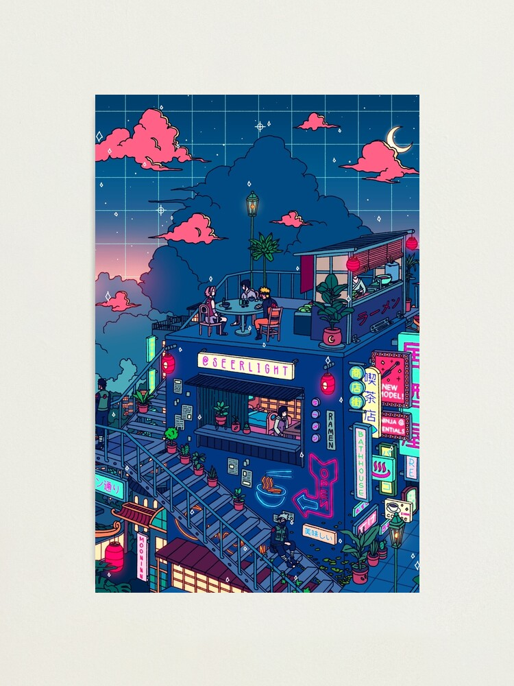 Alternate view of Neon Village Photographic Print