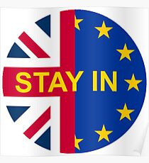BRITAIN STAY IN THE EU Poster