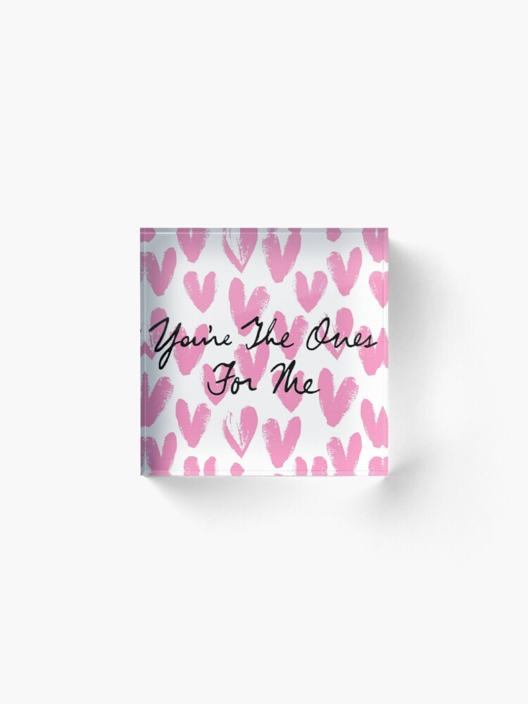 Alternate view of You're The Ones For Me (Painted Hearts) Acrylic Block