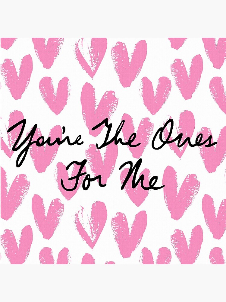 You're The Ones For Me (Painted Hearts) by polyphiliashop