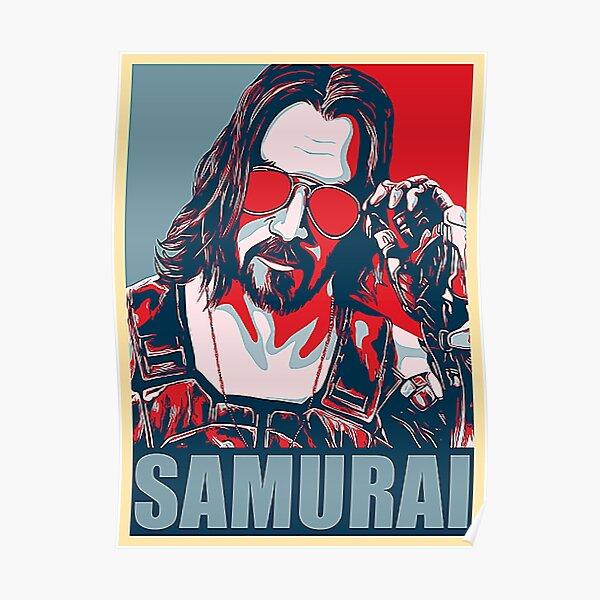 Cyberpunk - Johnny Silverhand - Samurai Shirt Poster