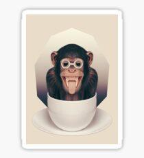 Caffeinimals: Monkey Sticker
